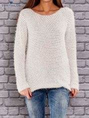 TOM TAILOR Beżowy sweter long hair