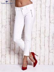 TOM TAILOR Białe spodnie z suwakami