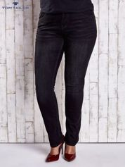 TOM TAILOR Czarne proste spodnie ze stretchem PLUS SIZE