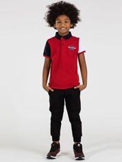 TOMMY LIFE Czerwona bawełniana koszulka polo dla chłopca
