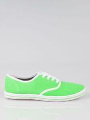 Zielone damskie tenisówki przed kostkę