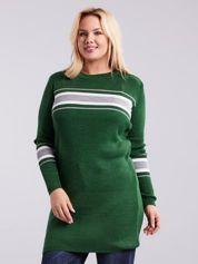 Zielony długi sweter PLUS SIZE