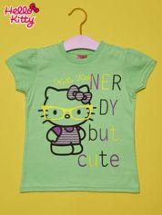 Zielony t-shirt dla dziewczynki HELLO KITTY
