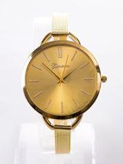Złoty zegarek damski na cienkim pasku