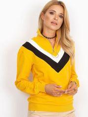 Żółta bluza dresowa z trójkątną aplikacją