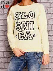 Żółta bluza z napisem ZŁOŚNICA