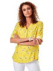 Żółta bluzka w dmuchawce
