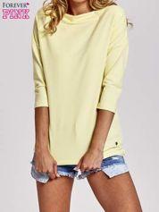Żółta bluzka z łódkowym dekoltem