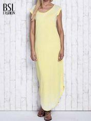 Żółta długa sukienka acid wash
