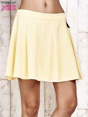Żółta dresowa spódnica szyta z koła