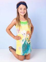 Żółta sukienka dla dziewczynki KRAINA LODU