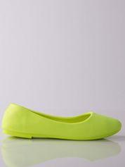 Żółte baleriny material Neon Amour na elastycznej podeszwie