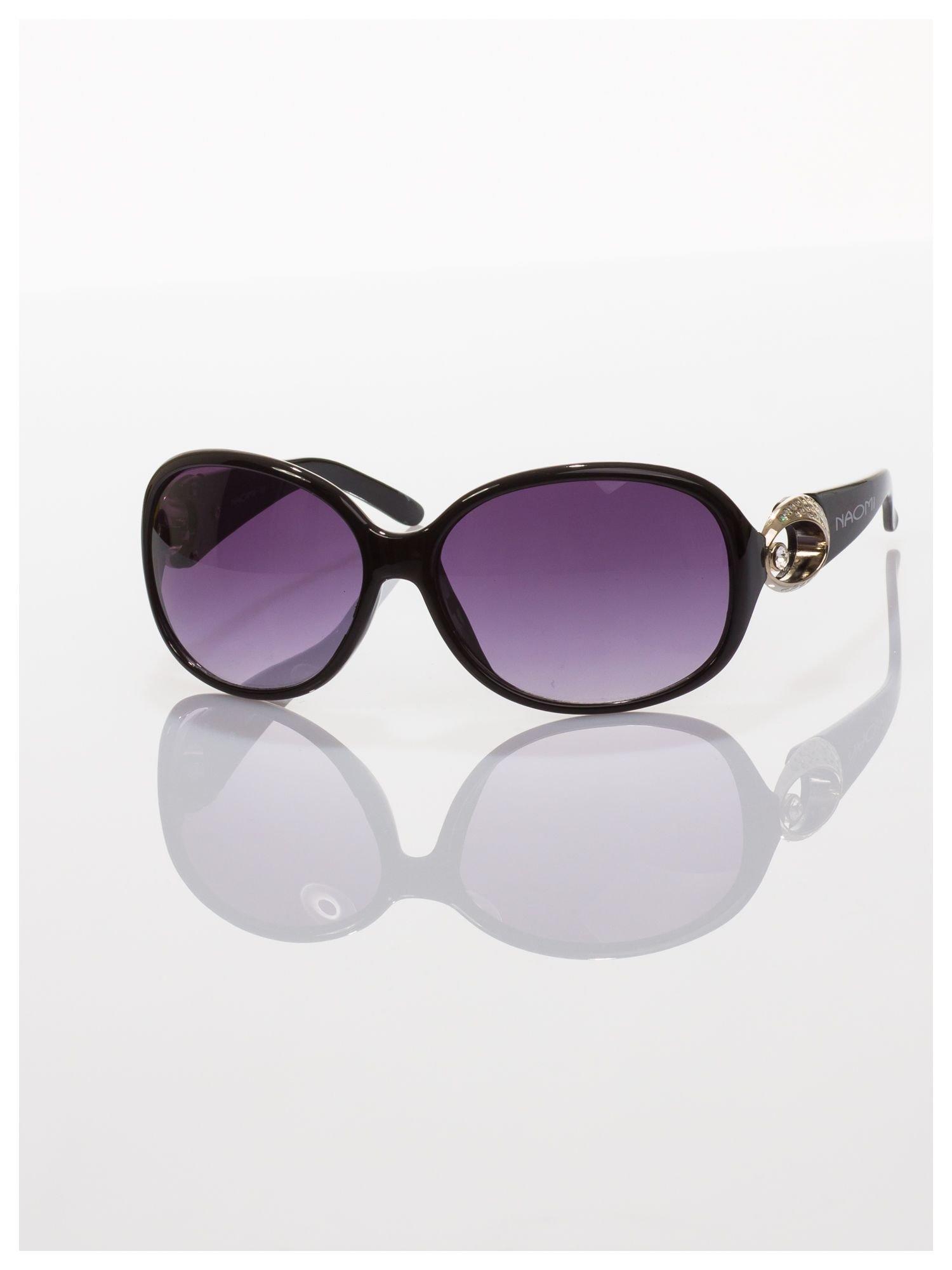 Czarne klasyczne okulary w sytlu MUCHY                                  zdj.                                  2