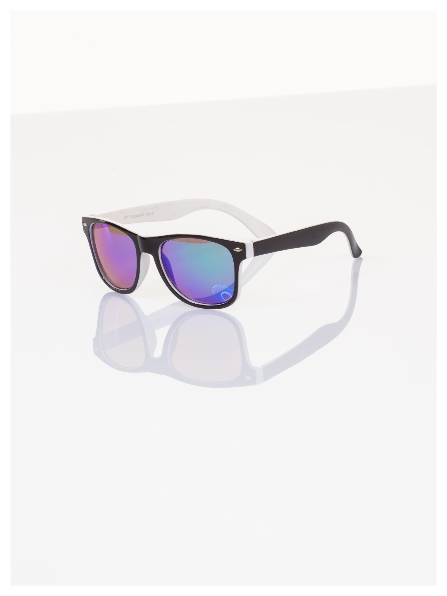 Dziecięce lustrzanki okulary z klasyczną oprawką WEYFARER NERD odporne na wyginania                                  zdj.                                  1