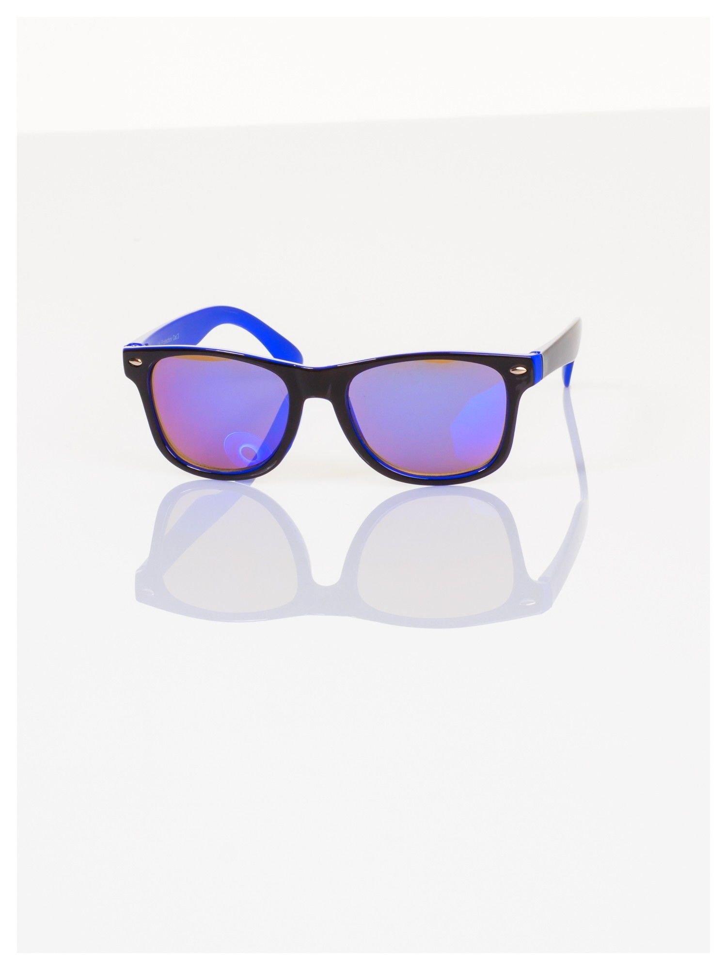 Dziecięce lustrzanki z filtrami UV -okulary z klasyczną oprawką WEYFARER NERD odporne na wyginania                                  zdj.                                  1