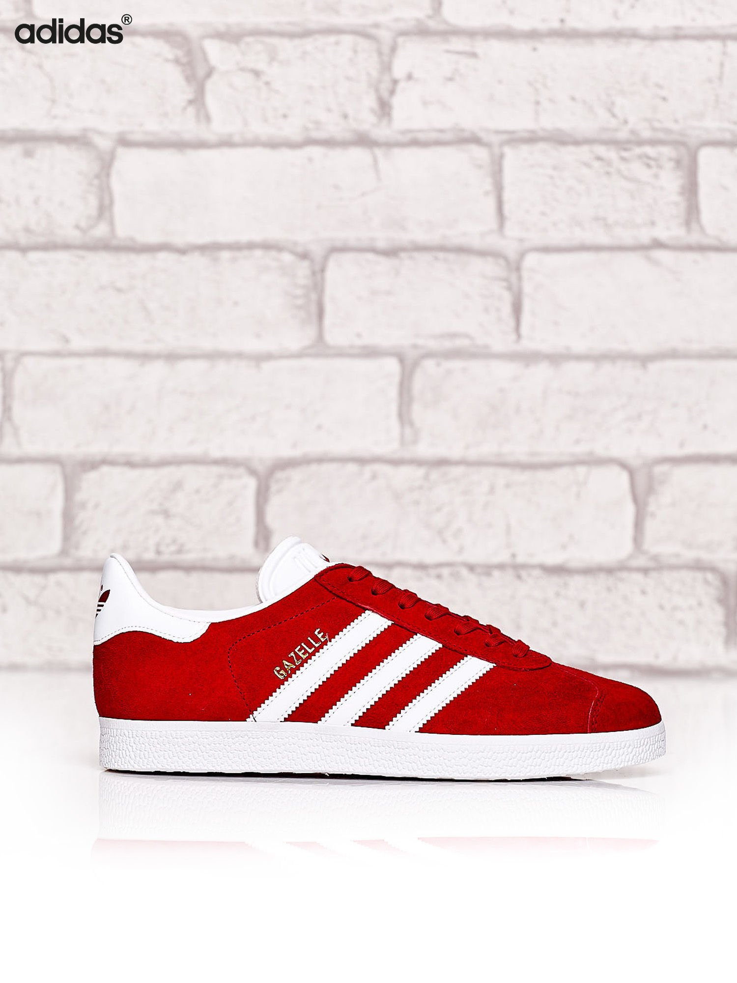 Czerwone buty Adidas Gazelle