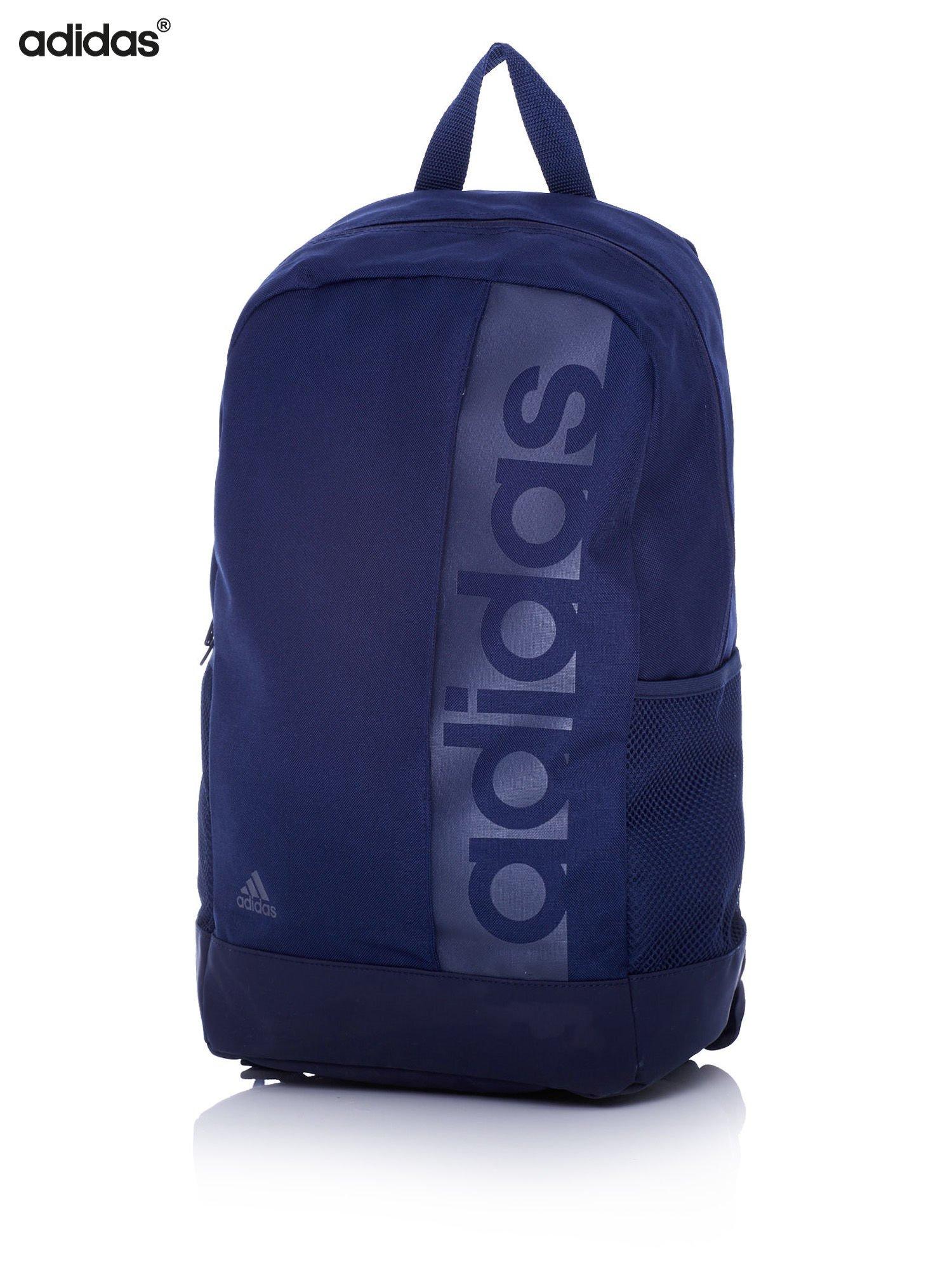 9ec96c49f03f3 ADIDAS Granatowy plecak szkolny z bocznymi kieszonkami - Dziecko ...