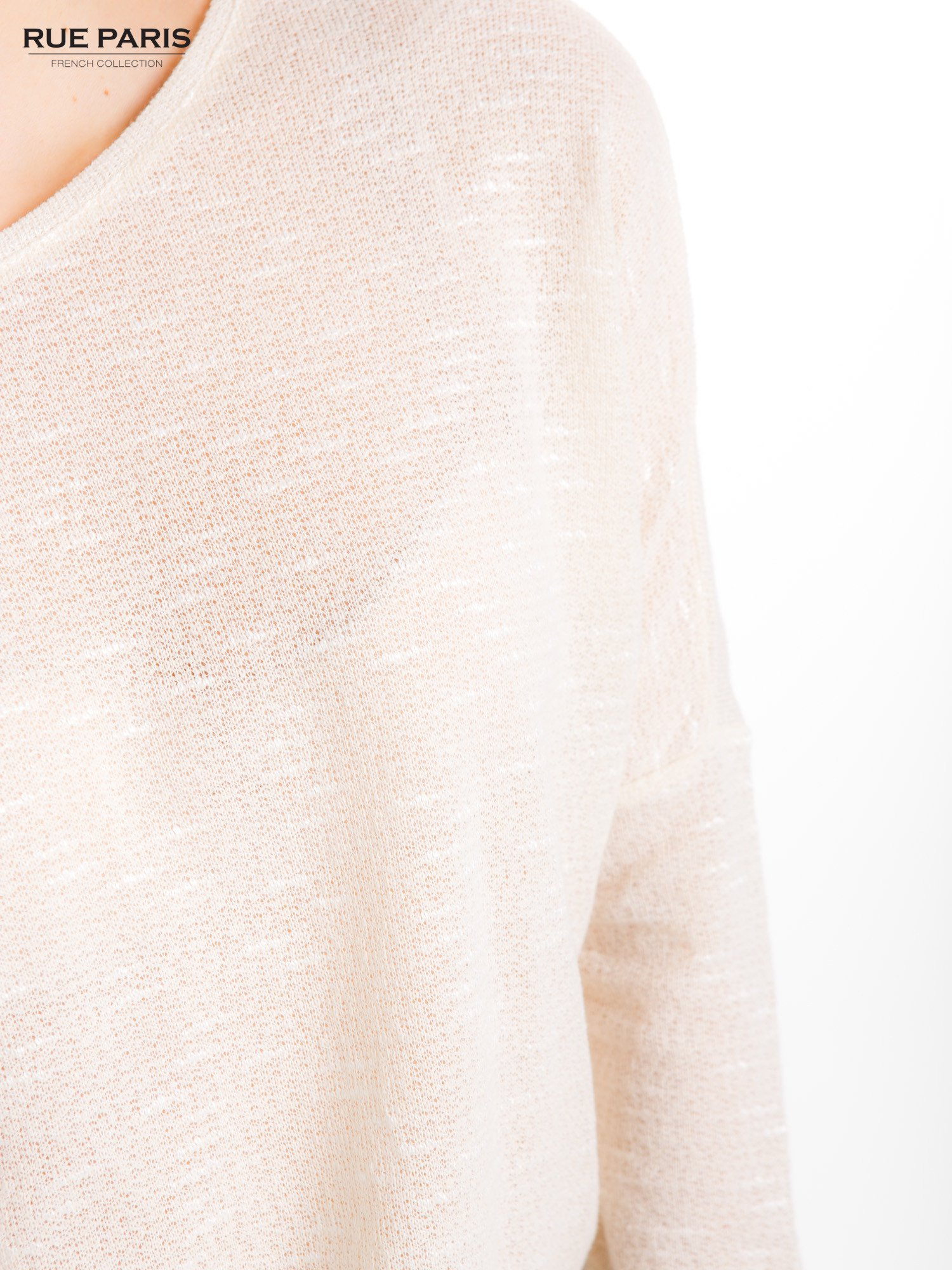 Beżowa bluzka o luźnym kroju                                  zdj.                                  7