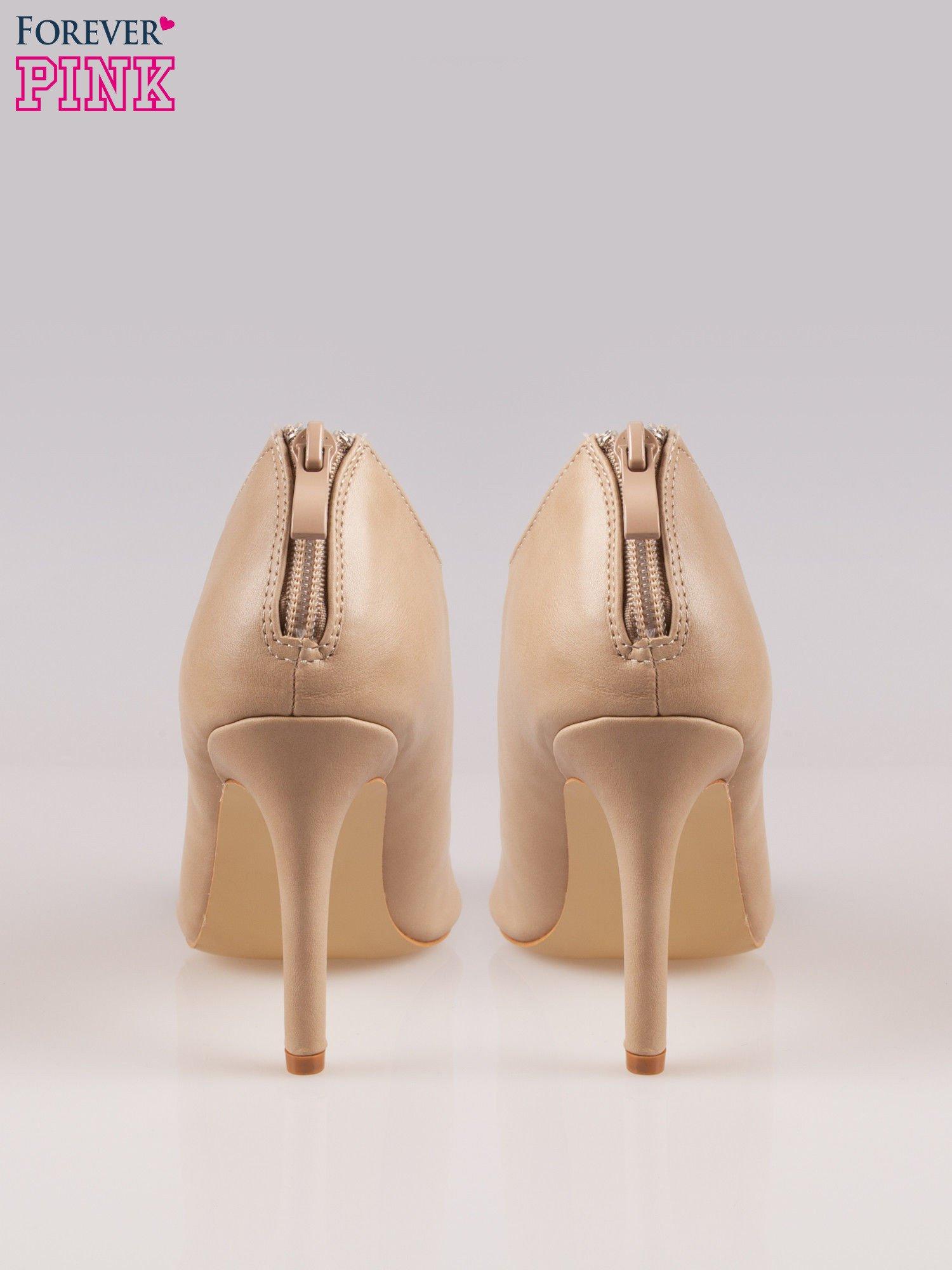 Beżowe wiązane sandały typu gladiatorki Dion                                  zdj.                                  3