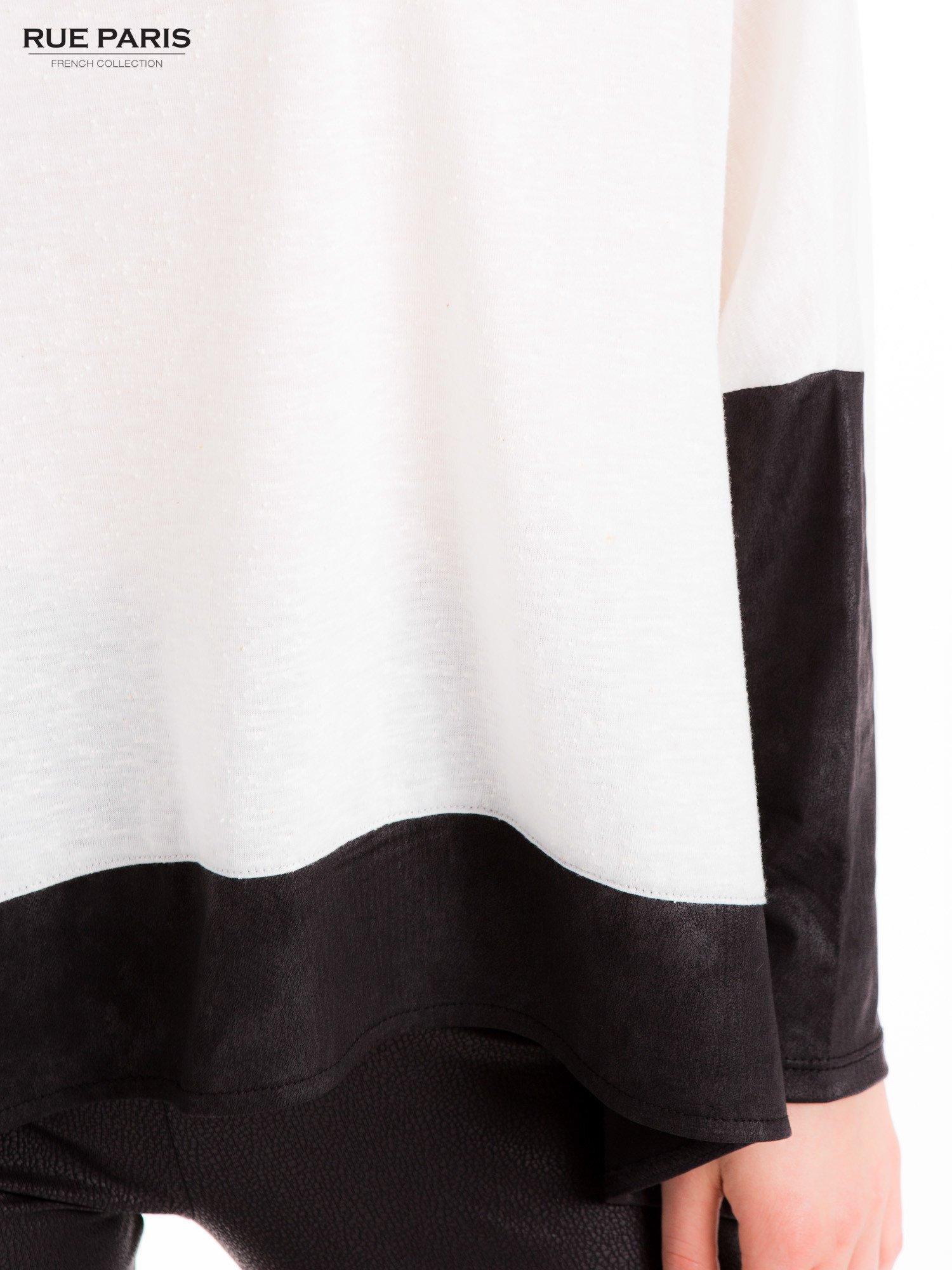 Biała bluzka z kontrastowymi wstawkami                                  zdj.                                  7
