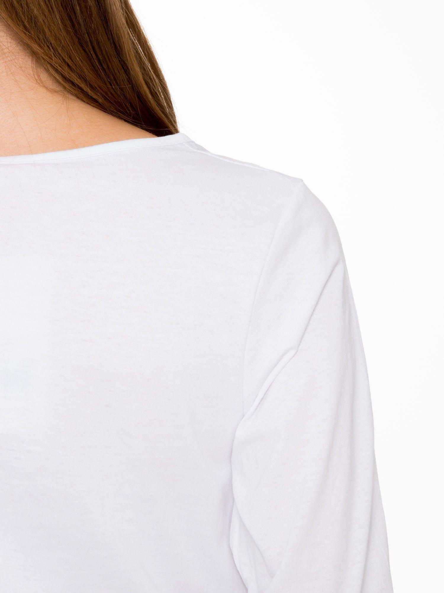 Biała bluzka z napisem FOLLOW YOUR DREAMS                                  zdj.                                  8