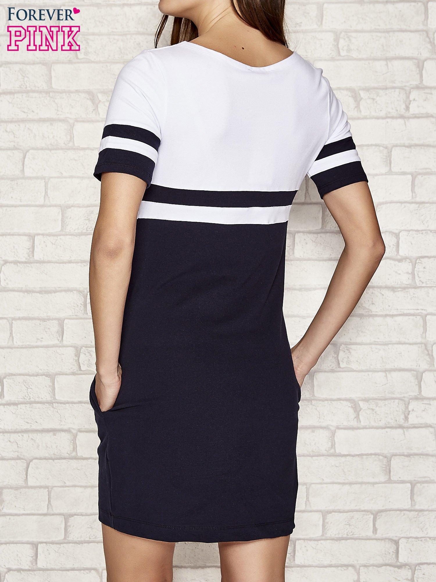 Biała sukienka dresowa baseball dress                                  zdj.                                  3