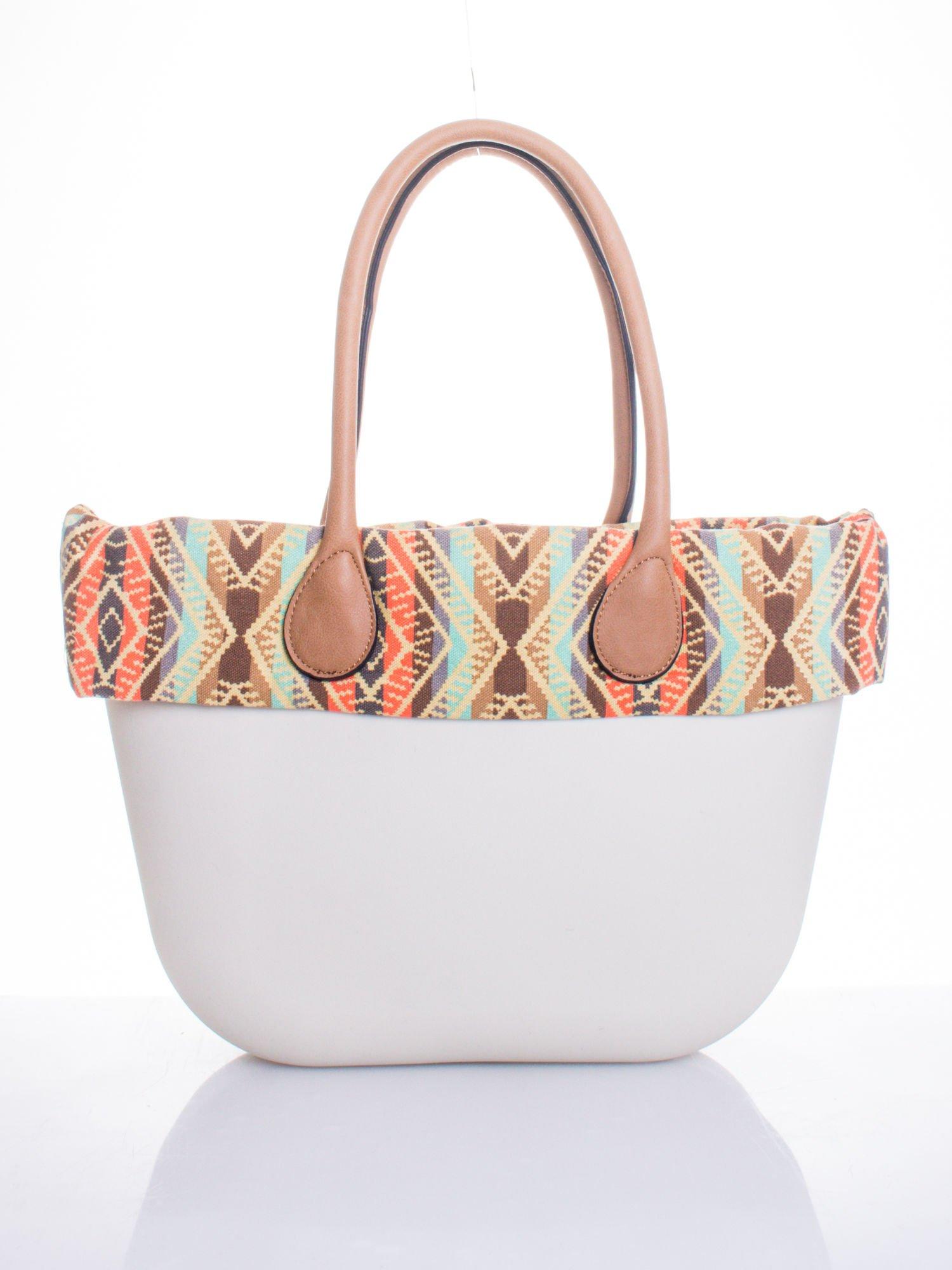 Biała torba gumowa z motywem azteckim                                  zdj.                                  1
