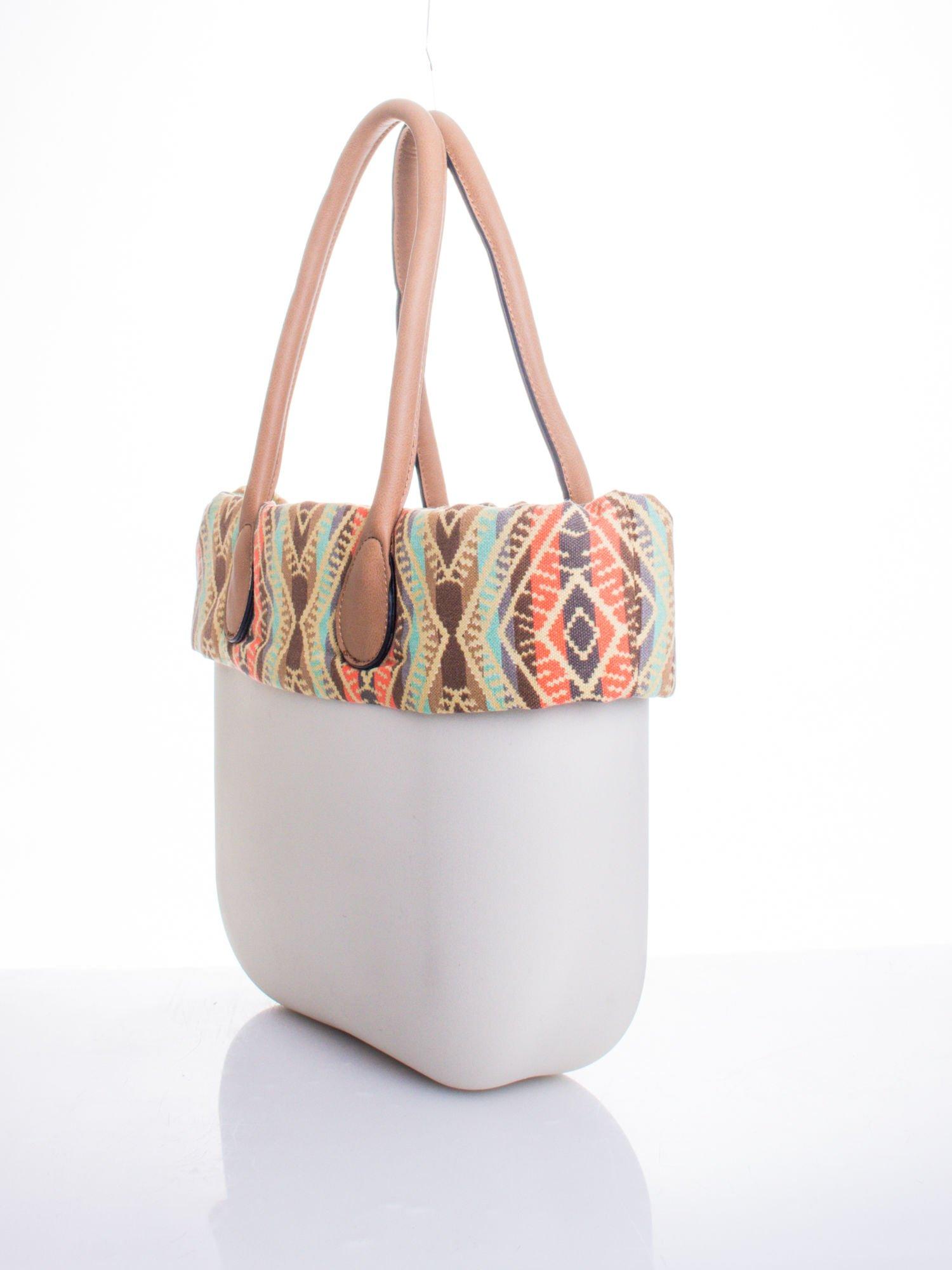 Biała torba gumowa z motywem azteckim                                  zdj.                                  3