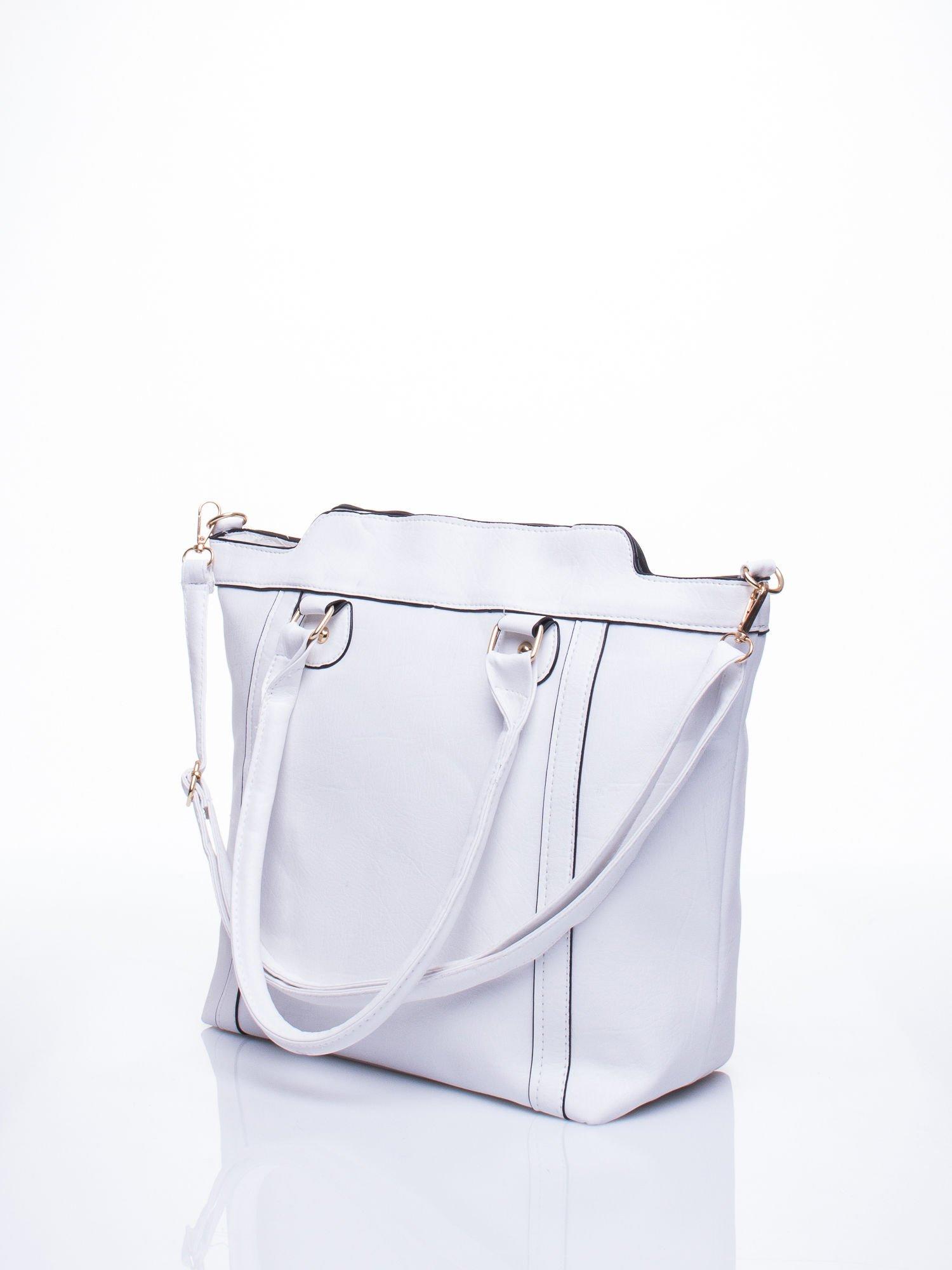 Biała torba miejska z odpinanym paskiem                                  zdj.                                  5