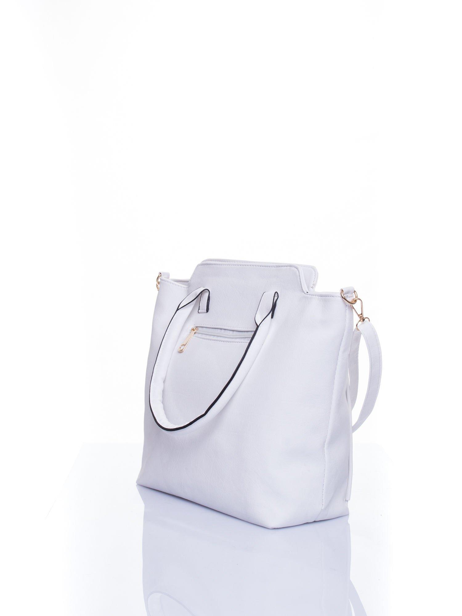 Biała torba shopper bag                                  zdj.                                  4