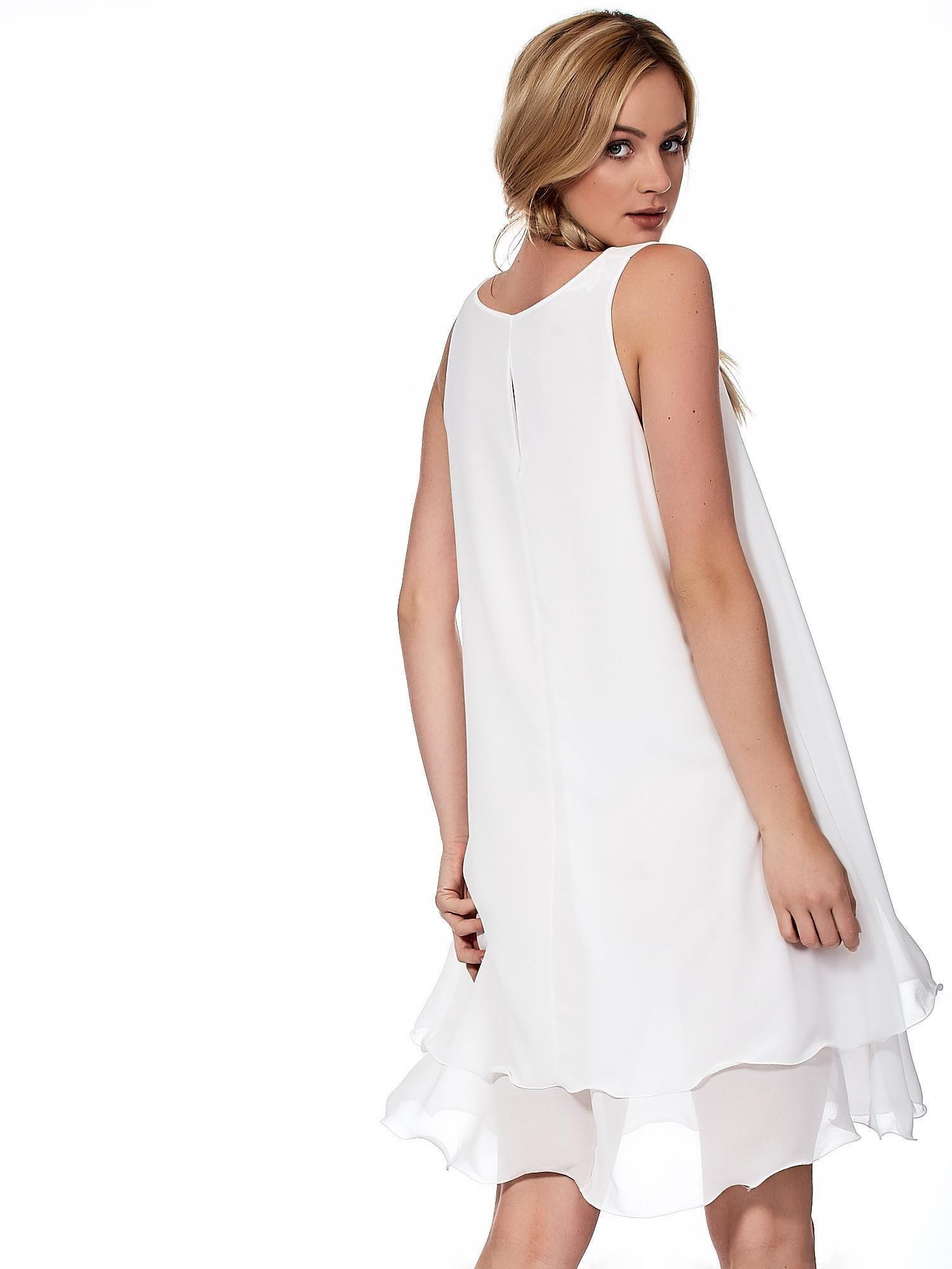 1f0c8d2d50 Biała zwiewna sukienka o luźnym kroju - Sukienka koktajlowa - sklep  eButik.pl