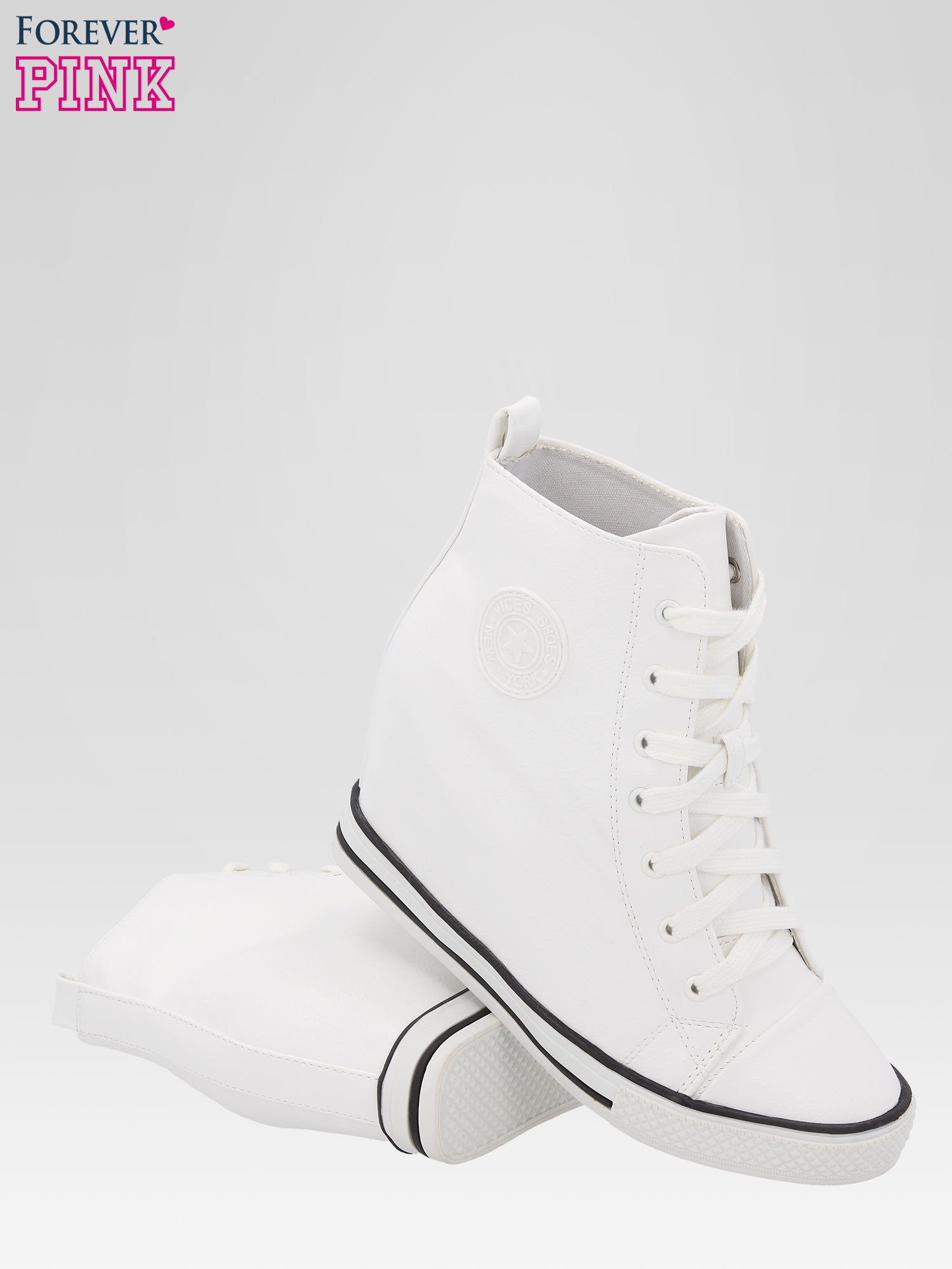 Białe klasyczne sneakersy damskie                                  zdj.                                  4