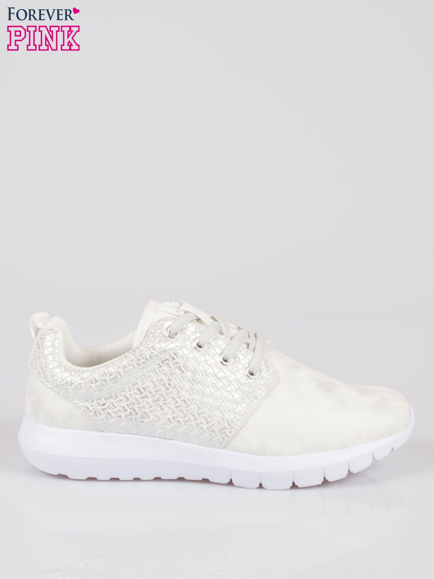 Białe plecione buty sportowe duo Split Up                                  zdj.                                  1