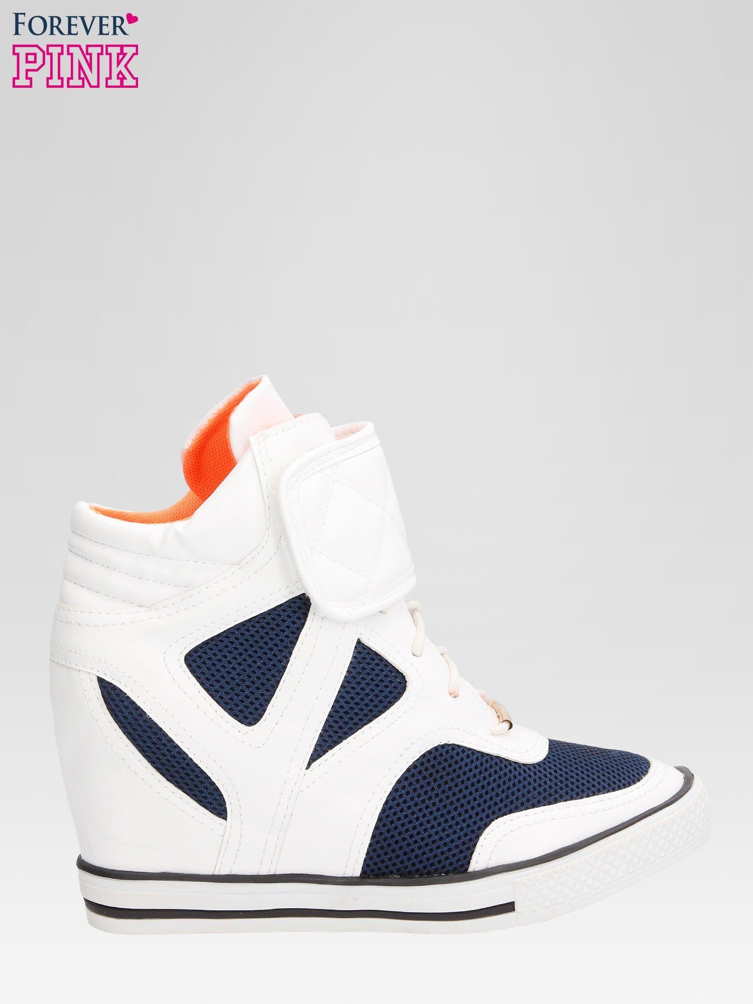 Białe sportowe sneakersy damskie z siateczką                                  zdj.                                  1
