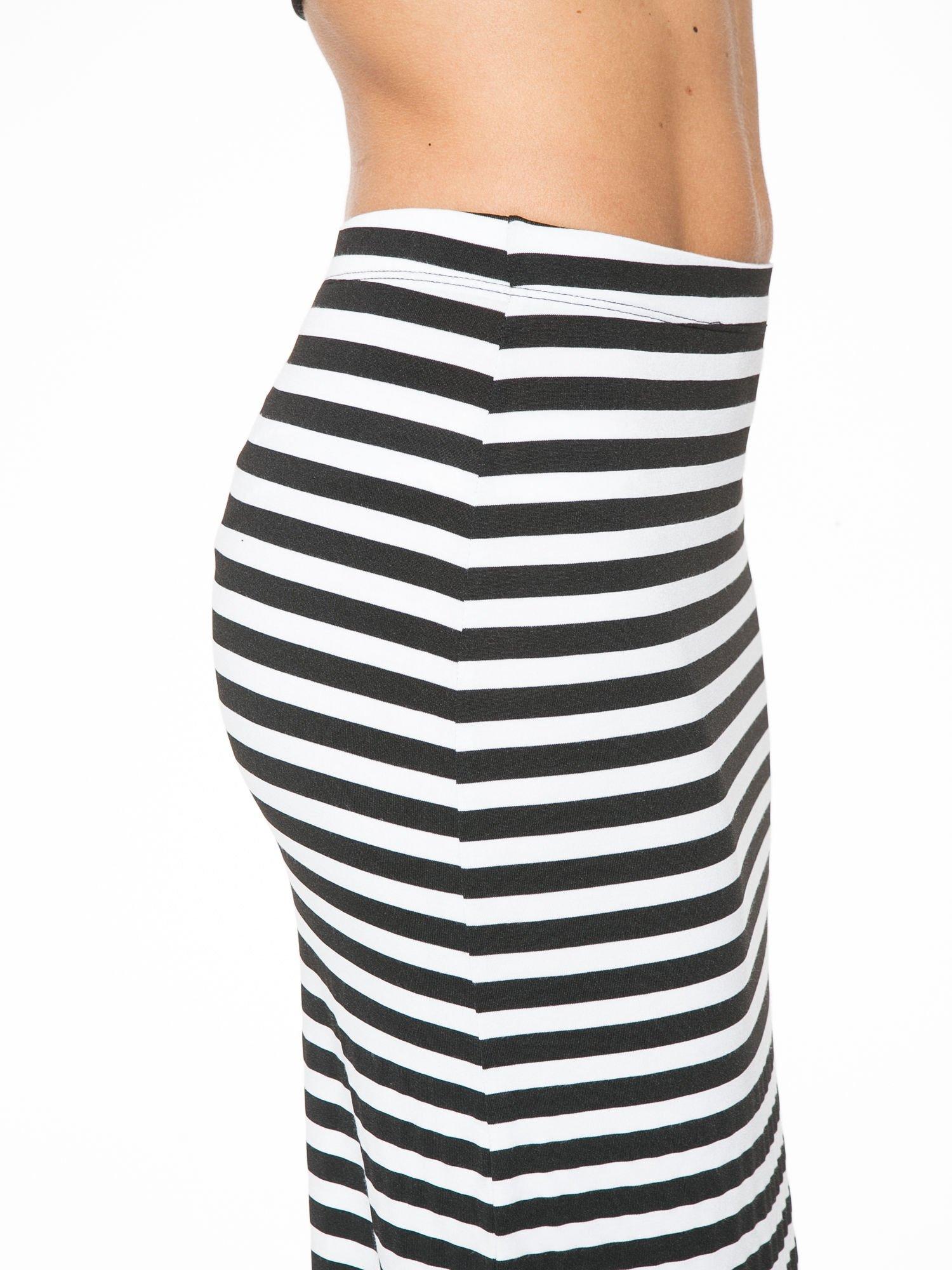 Biało-czarna spódnica maxi w paski                                  zdj.                                  6