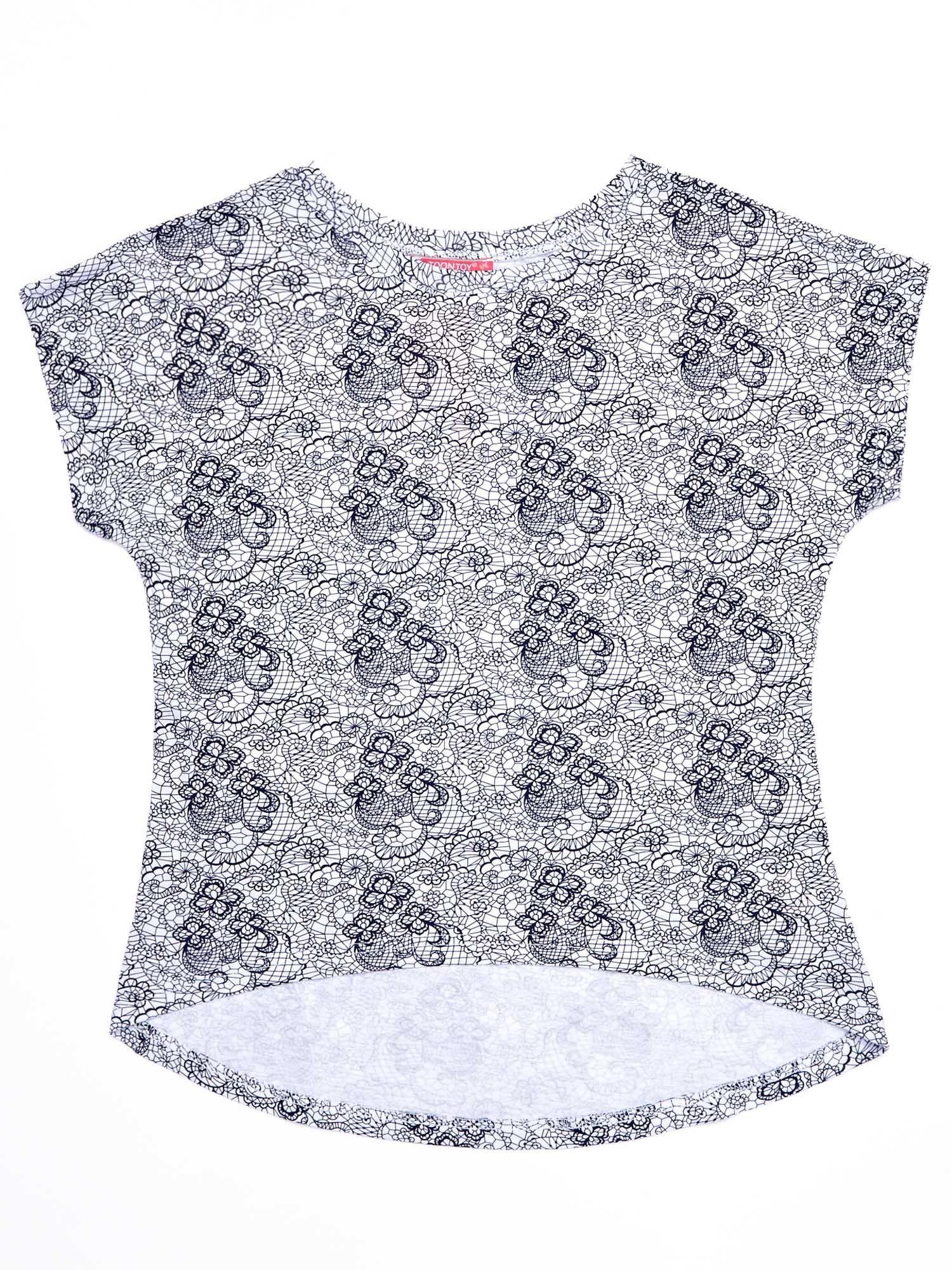 Biało-granatowa bluzka dla dziewczynki - Dziecko ...