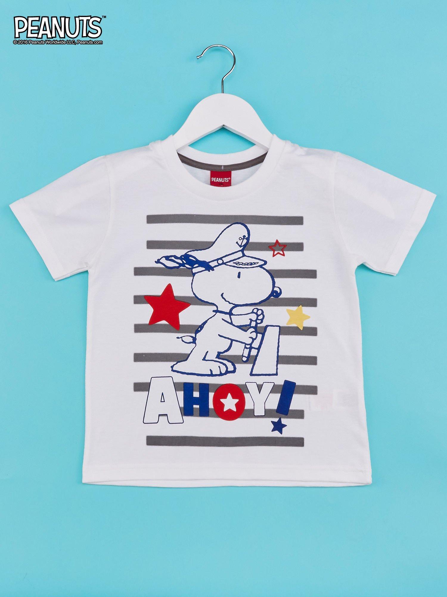 Biało-szary t-shirt chłopięcy FISTASZKI                                  zdj.                                  1