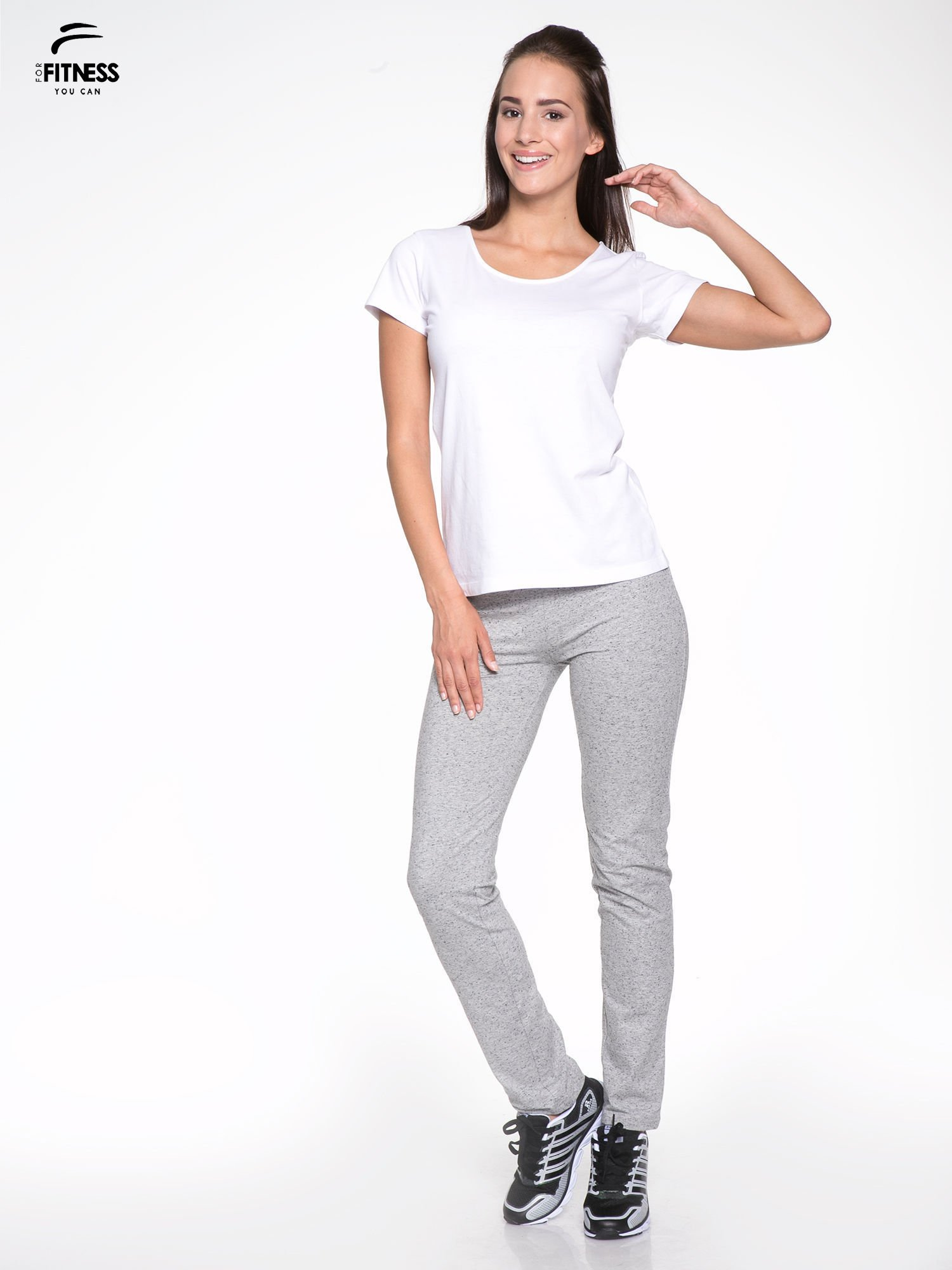 Biały bawełniany t-shirt damski typu basic                                  zdj.                                  5
