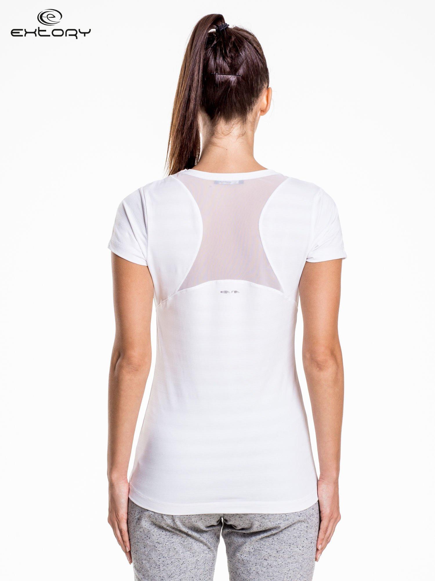 Biały damski t-shirt sportowy PLUS SIZE                                  zdj.                                  4