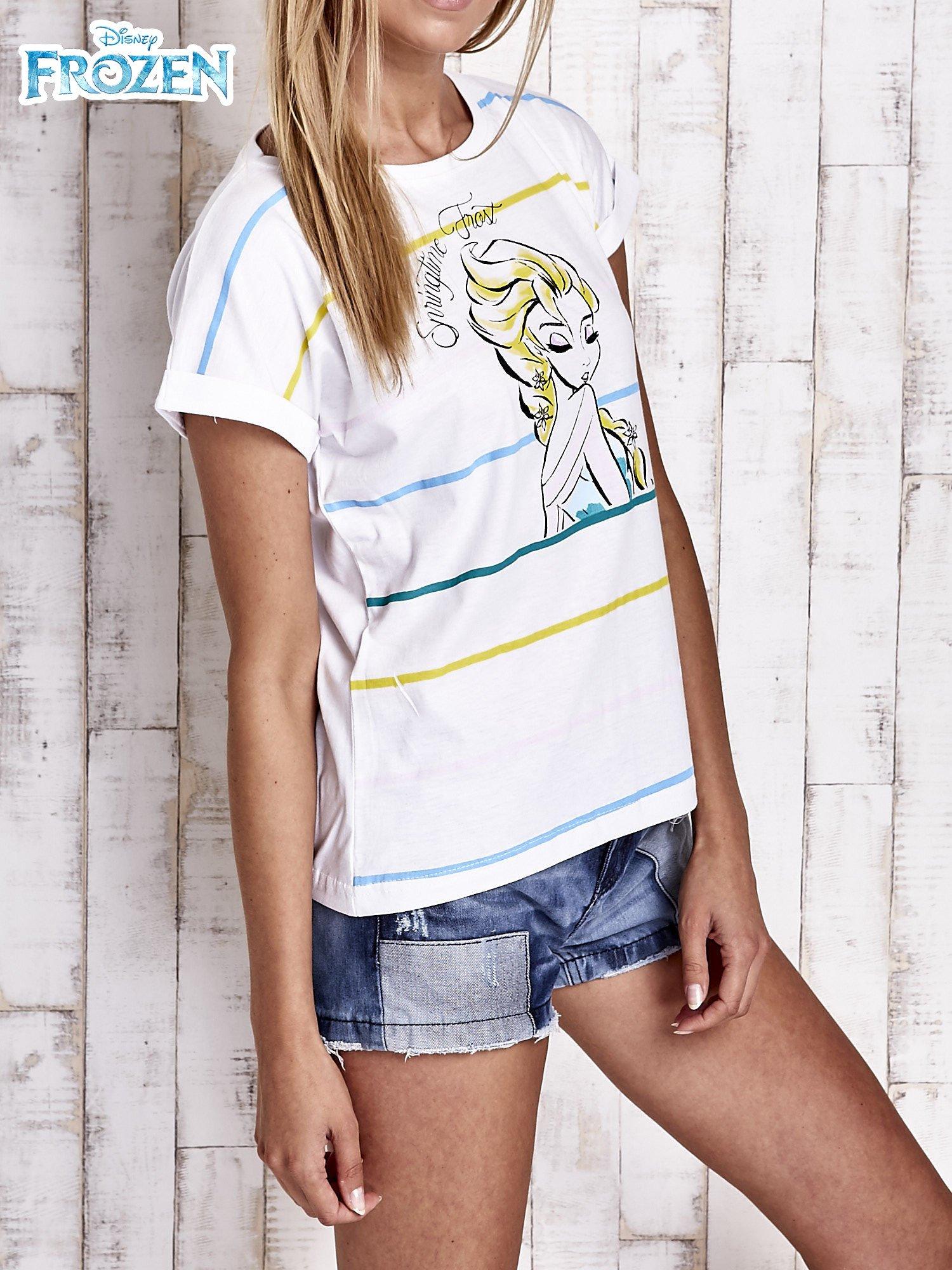 Biały t-shirt FROZEN                                  zdj.                                  3