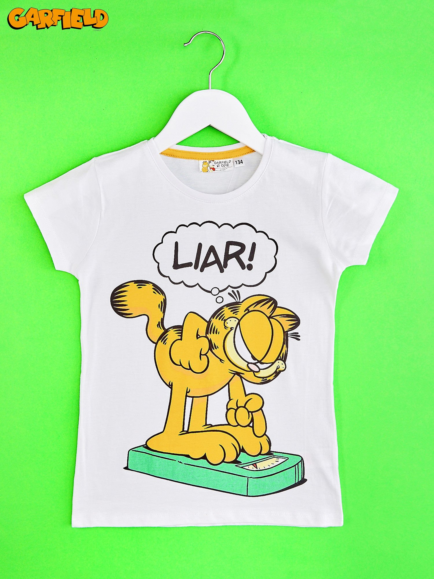Biały t-shirt chłopięcy GARFIELD                                  zdj.                                  1
