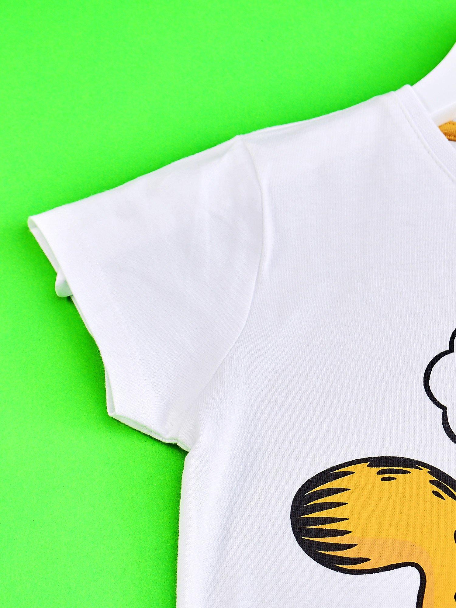 Biały t-shirt chłopięcy GARFIELD                                  zdj.                                  3