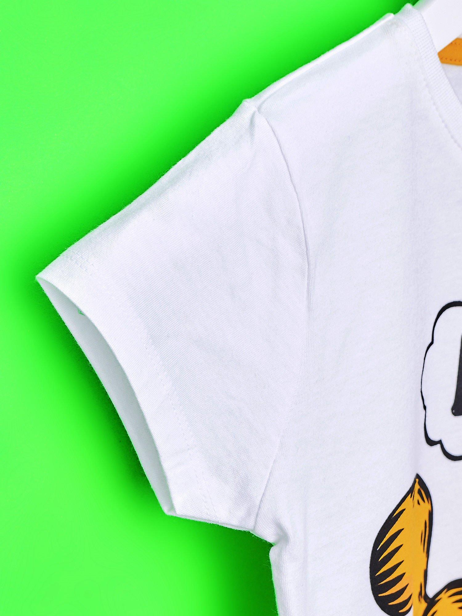 Biały t-shirt chłopięcy GARFIELD                                  zdj.                                  6