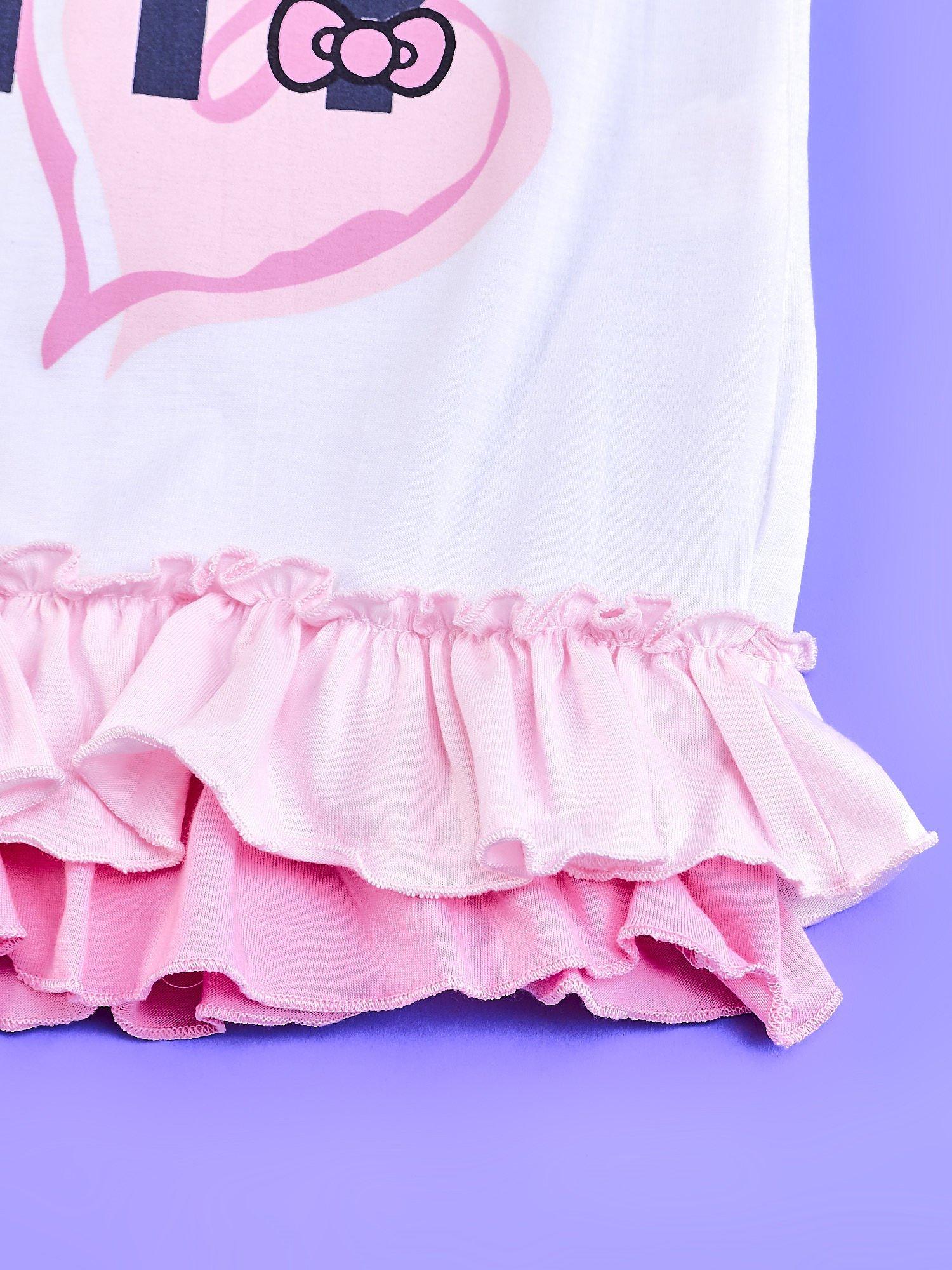 Biały t-shirt dla dziewczynki z motywem HELLO KITTY                                  zdj.                                  5