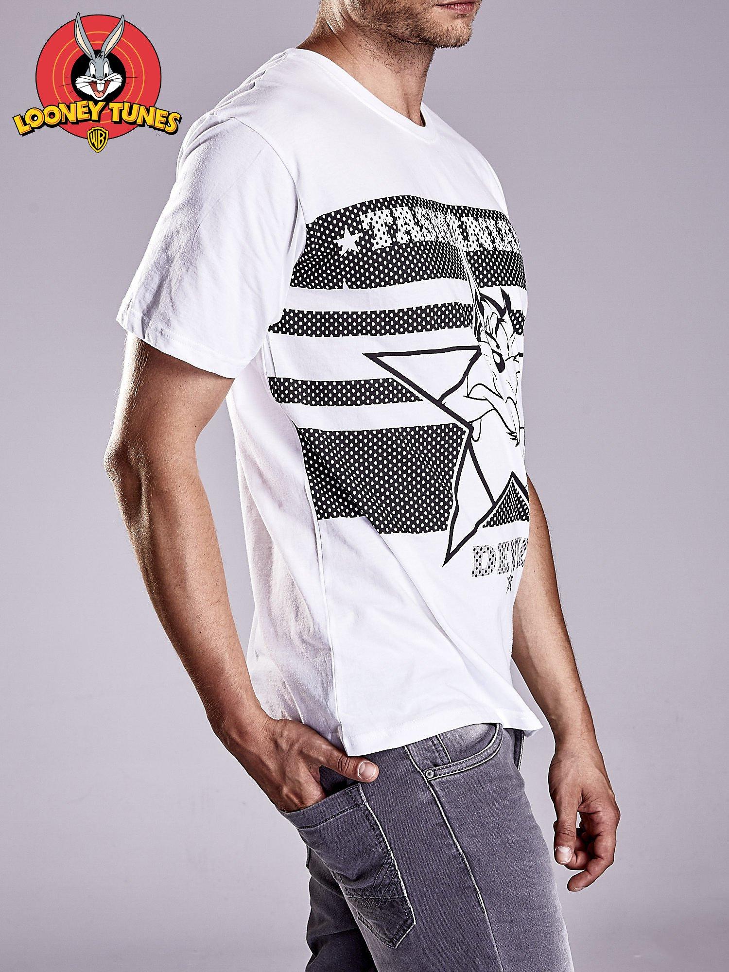 Biały t-shirt męski LOONEY TUNES                                  zdj.                                  4