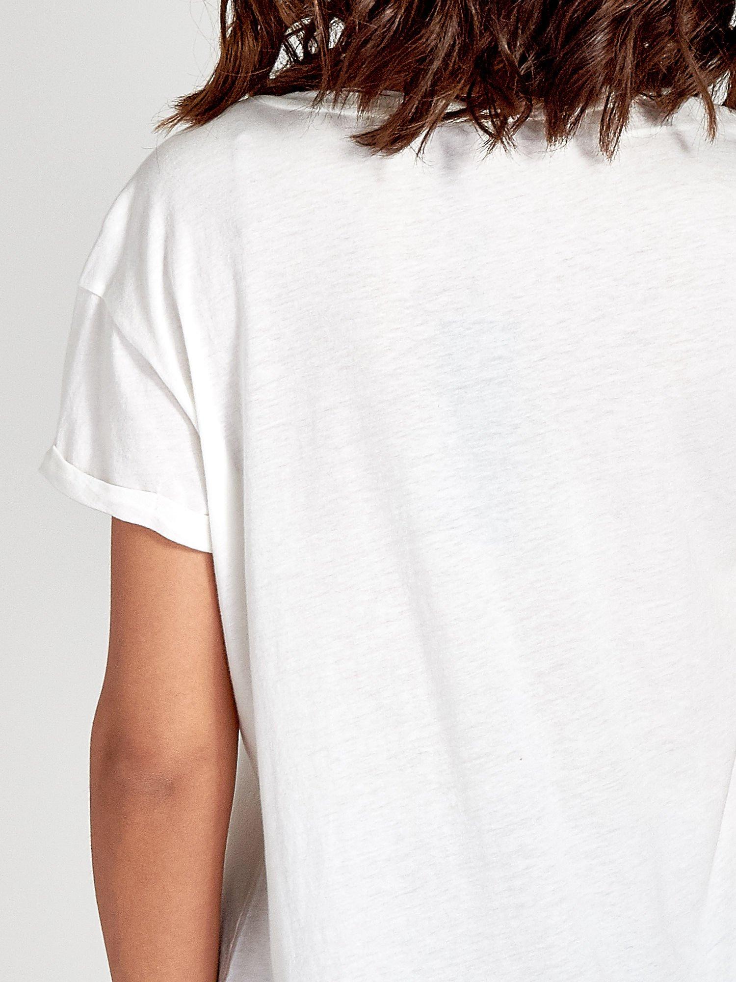 Biały t-shirt z hasztagiem #SELFIE                                  zdj.                                  6