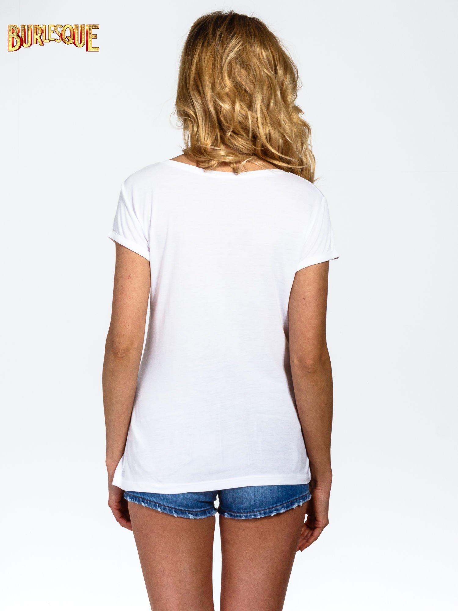 Biały t-shirt z kolorowym nadrukiem I'M NOT YOUR BABE                                  zdj.                                  4