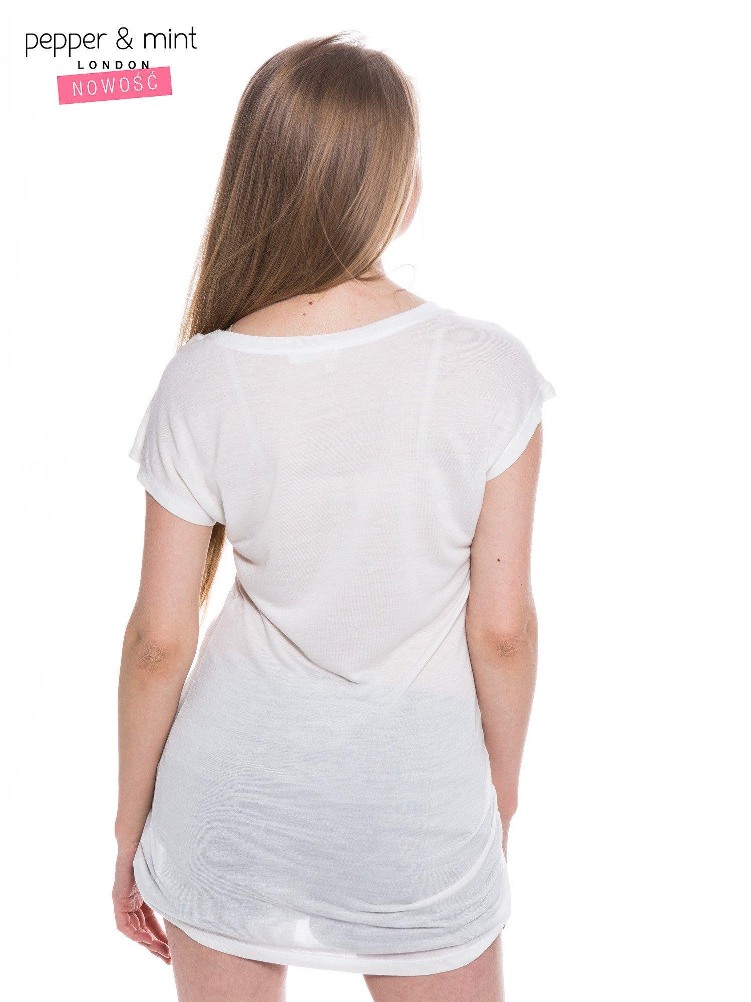 Biały t-shirt z nadrukiem YVES SAINT LAURENT                                  zdj.                                  3