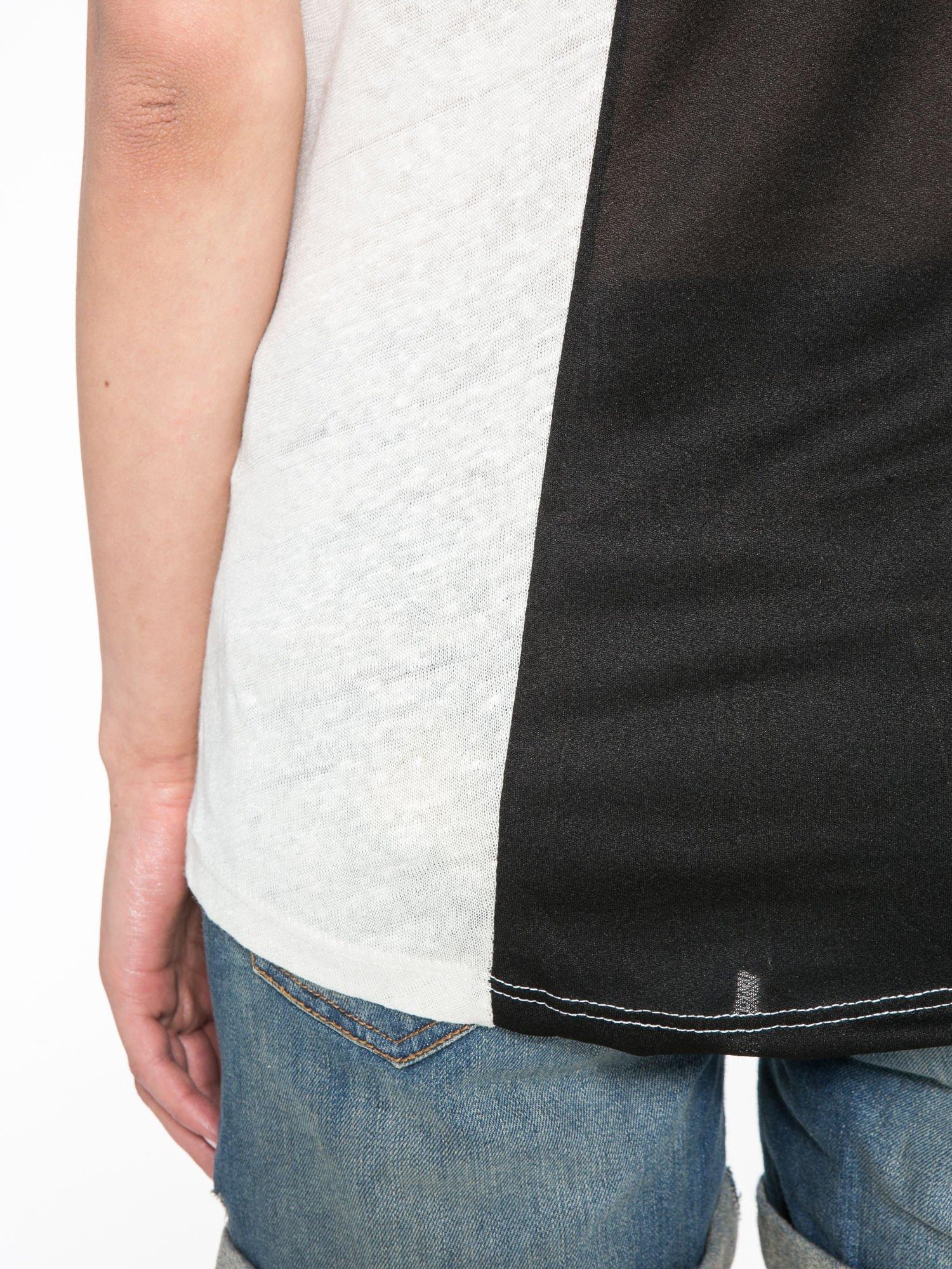 Blady ecru t-shirt z nadrukiem UNIVERSITY FORVER                                  zdj.                                  10