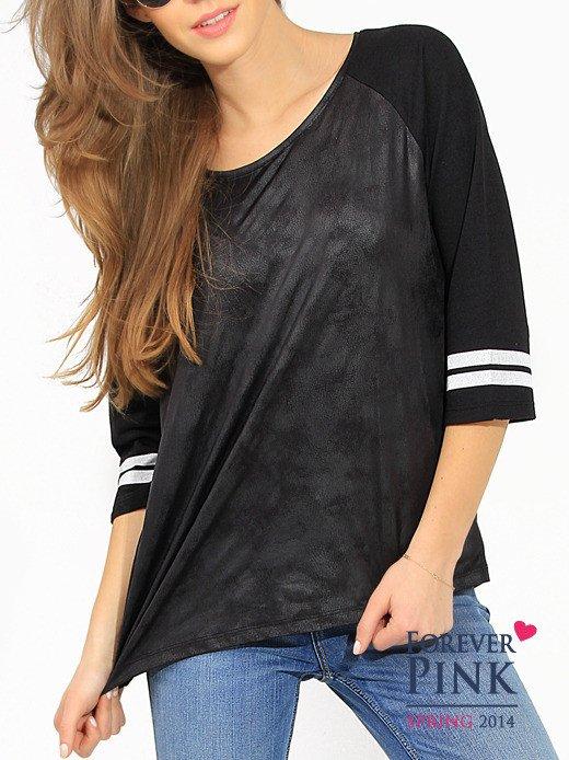 Bluza z imitacją skóry                                  zdj.                                  2